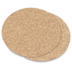 Hygloss Cork Coasters - Pkg of 24, Round, 6'' diameter