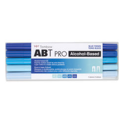 Tombow ABT PRO Alcohol Markers - Blue Tones, Set of 5