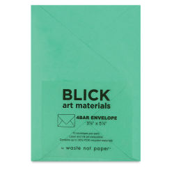 Blick Stationery - 4 Bar Envelope, Jade, 3-5/8'' x 5-1/8'', Pkg of 10