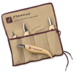 Flexcut Knife Set with Roll - Set of 4