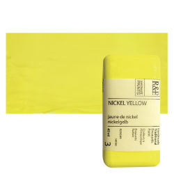 R&F Encaustic Paint Block - Nickel Yellow, 40 ml, Block