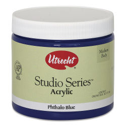 Utrecht Studio Series Acrylic Paint - Phthalo Blue, Pint