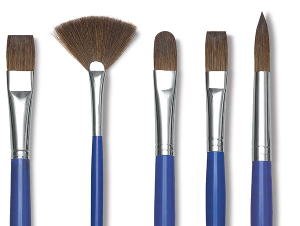 Blick Scholastic Red Sable Brushes and Sets