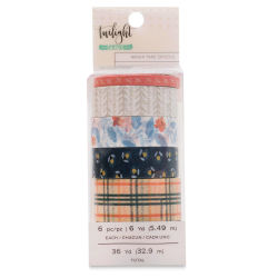 American Crafts Washi Tape - Twilight, 6 yd, Package of 6, In Package