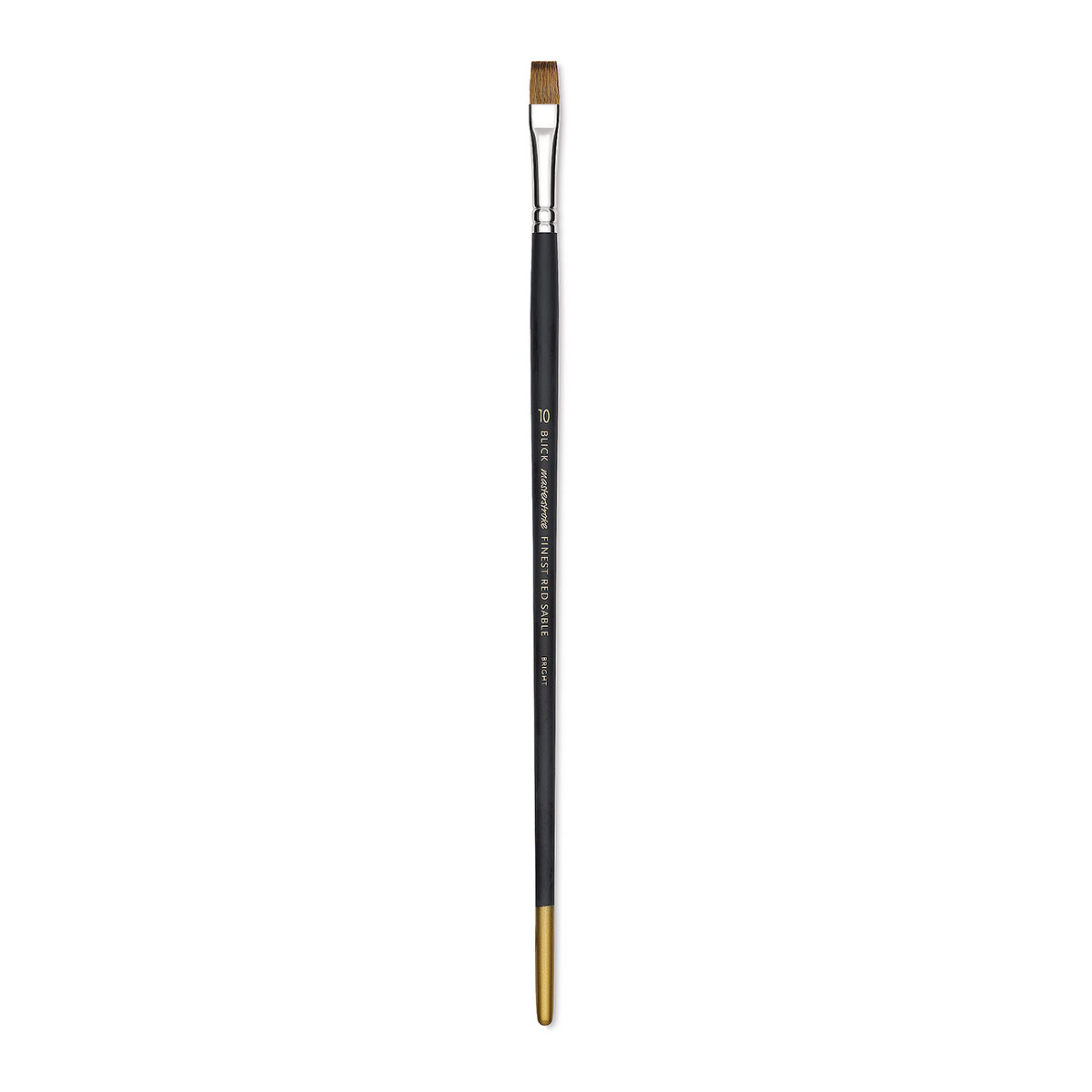 Blick Masterstroke Finest Red Sable Brush - Bright, Size 10, Long Handle