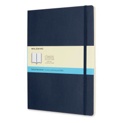 "Moleskine Classic Soft Cover Notebook - Sapphire Blue, Dotted, 9-3/4"" x 7-1/2"""