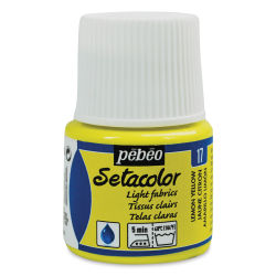 Pebeo Setacolor Fabric Paint - Lemon Yellow, Light Fabric, 45 ml bottle