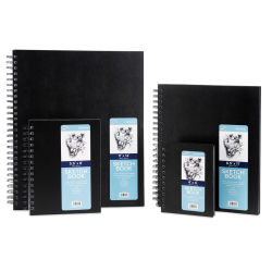 ProArt Spiral Bound Sketchbook - 6'' x 4'', 80 sheets