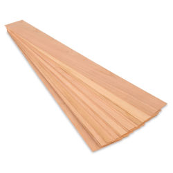 Midwest Products Cherry Wood Sheet, Pkg of 15, 1/32'' x 3'' x 24''