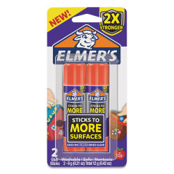 Elmer's Extra Strength Glue Stick - Pkg of 2, 0.21 oz