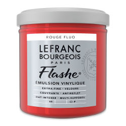 Lefranc & Bourgeois Flashe Vinyl Paint - Fluorescent Red, 125 ml jar