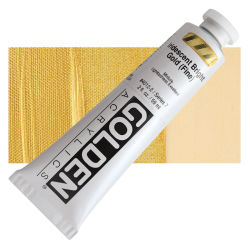 Golden Heavy Body Artist Acrylics - Iridescent Bright Gold (Fine), 2 oz Tube