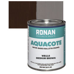 Ronan Aquacote Water-Based Acrylic Color - Medium Brown, Pint