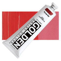 Golden Heavy Body Artist Acrylics - Pyrrole Red, 5 oz tube