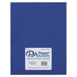 Paper Accents Glitter Cardstock - Jewel Blue, 8-1/2'' x 11'', Pkg of 5 Sheets