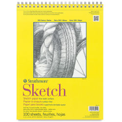 Strathmore 300 Series Sketch Pad - 11'' x 14'', Wire Bound, 100 Sheets