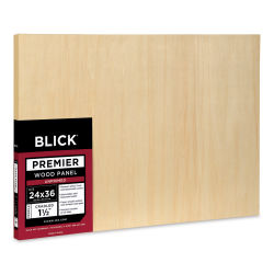 Blick Premier Wood Panel - 24'' x 36'', 1-1/2'' Gallery Profile, Cradled