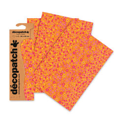 "DecoPatch Papers - Orange Floral, Package of 3, 12"" x 16"""