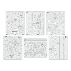 Iwata Artool Freehand Template - Set of 6, Kustom FX 3