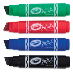 Crayola Project XL Poster Markers - Set of 4, Classic Colors
