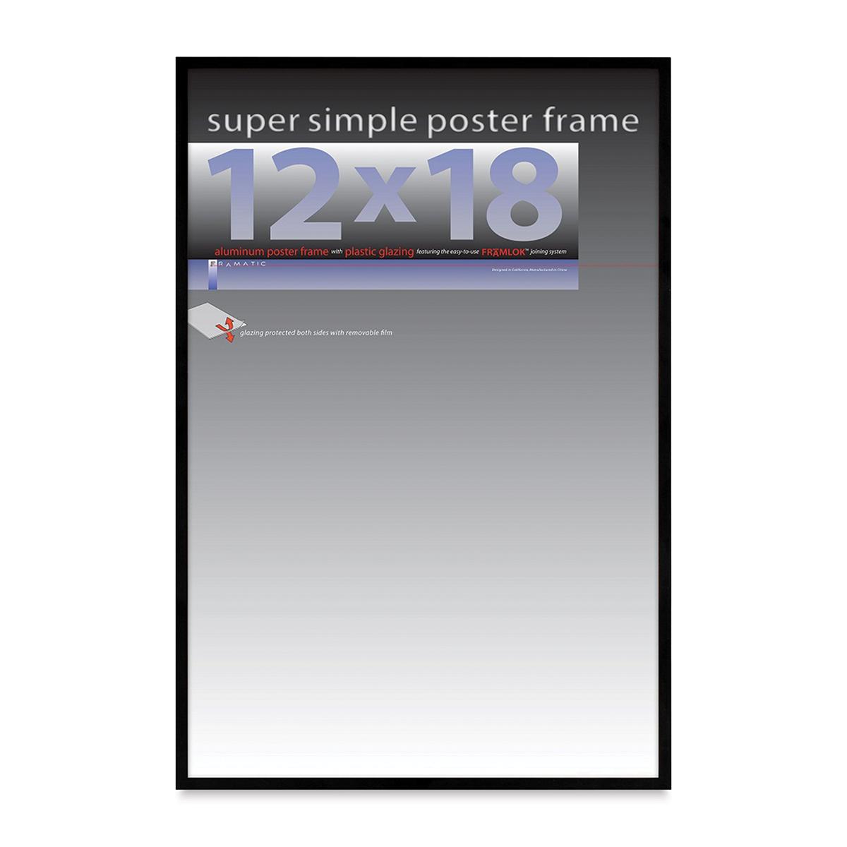 Framatic Super Simple Poster Frame - Black, 12 x 18