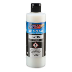 Createx Airbrush Clears - UVLS Top Coat, Satin, 8 oz, Bottle