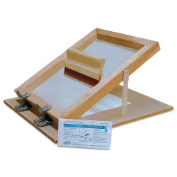 Professional Grade Screen Printing Unit - 14'' x 18'', Unit with 10'' Squeegee