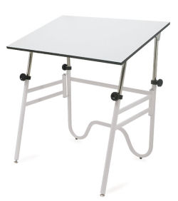 Alvin Opal Drafting Table - 24'' × 36'', White Base