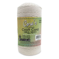 Pepperell Cotton Macramé Cord - Natural, 1 mm, 1000 ft