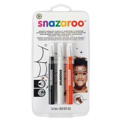 Snazaroo Face Paint Brush Pen Set - Halloween, Set of 3