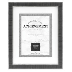 MCS Estonian Document Frame - Black w/Silver, 11'' x 14''