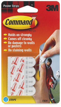 Command Adhesive Poster Strips, Pkg of 12