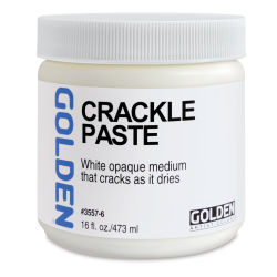 Golden Crackle Paste - 16 oz jar