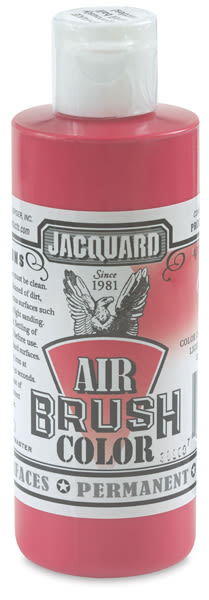 Jacquard Airbrush Paint - 4 oz, Opaque Red