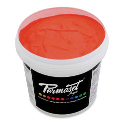Permaset Aqua Fabric Ink - Supercover Glow Orange, Liter