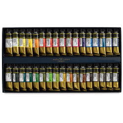 Mijello Mission Gold Watercolors - Assorted Colors, Set of 34, 15 ml tubes