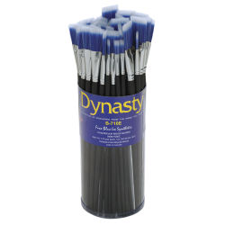 Dynasty Blue Ice Brush Canister - Easel Brushes, Set of 60