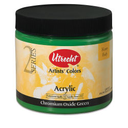 Utrecht Artists' Acrylic Paint - Chromium Oxide Green, Pint
