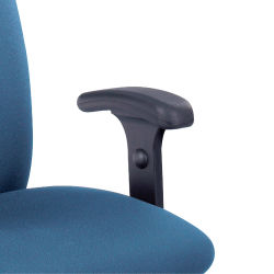 Safco Uber Chair - Black, Adjustable T-Pad Arms