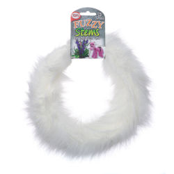 Pepperell Craft Fuzzy Stems  - Pure White, 9 ft