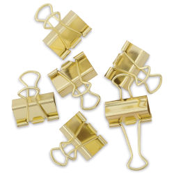 U Brands Gold Binder Clips - Large, Pkg of 6