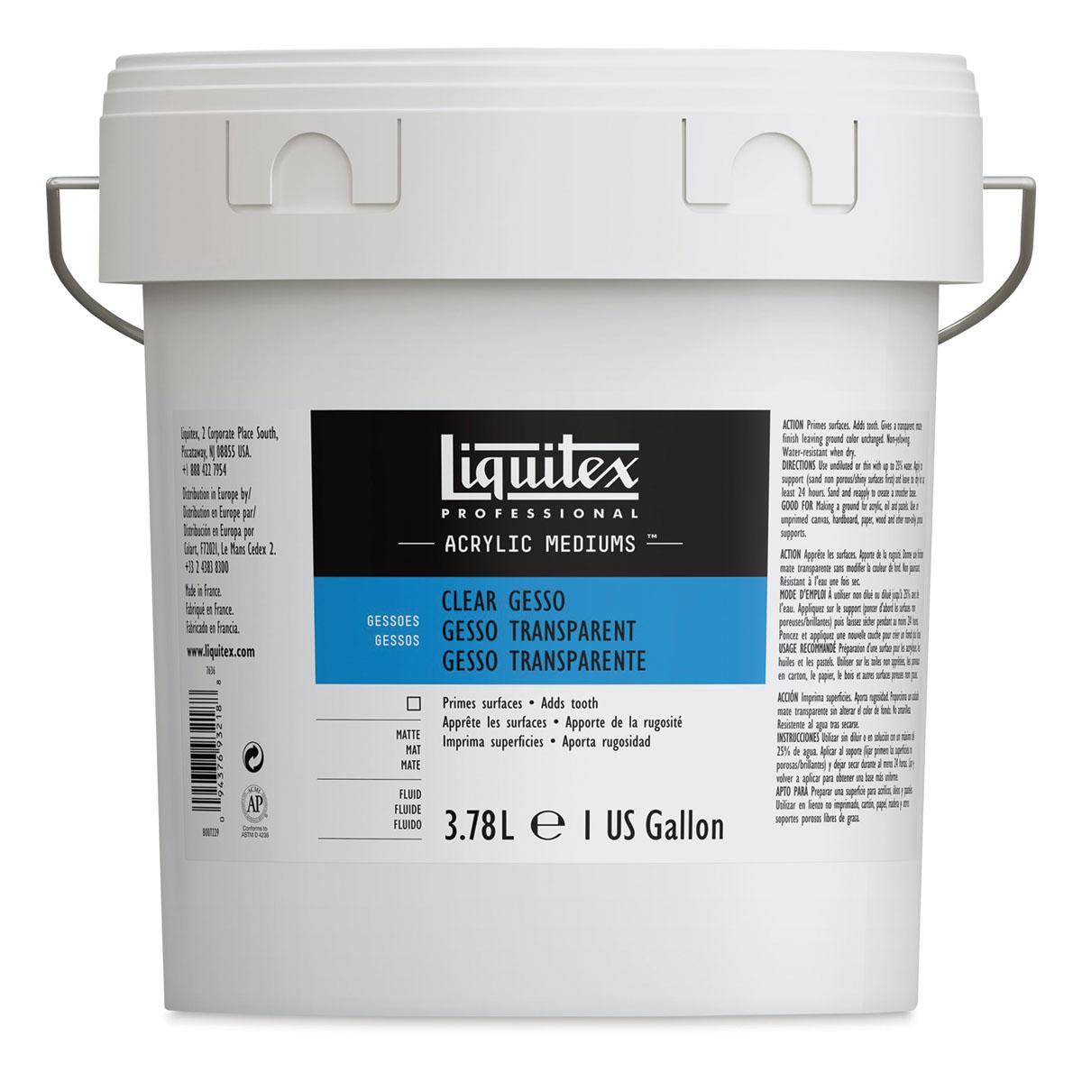 Liquitex Acrylic Gesso - Clear, Gallon