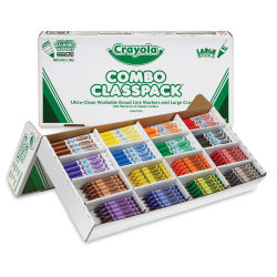 Crayola Combo Classpack - Pkg of 256, Large Size Crayons and Washable Markers