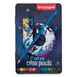 Bruynzeel Soft Grip Colored Pencils - Blue Packaging, Set of 12