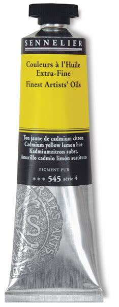 Sennelier Artists' Extra Fine Oil Paint - Cadmium Yellow Lemon Hue, 40 ml tube