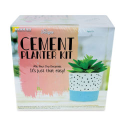 DIY Designs Cement Craft Kit - Planter Kit (Front of packaging.)