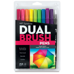 Tombow Dual Brush Pens - Set of 10, Bright Colors
