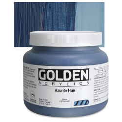Golden Heavy Body Artist Acrylics - Azurite Historic Hue, 32 oz Jar