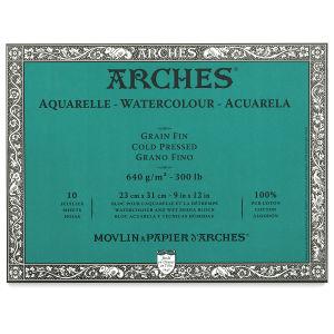 Arches Watercolor Block - 9'' x 12'', 300 lb, Cold Press, 10 Sheets