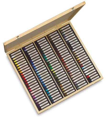 Sennelier Oil Pastel Set - Assorted Colors, Wood Box, Set of 120